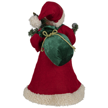 Santa with gifts Christmas Tree Topper