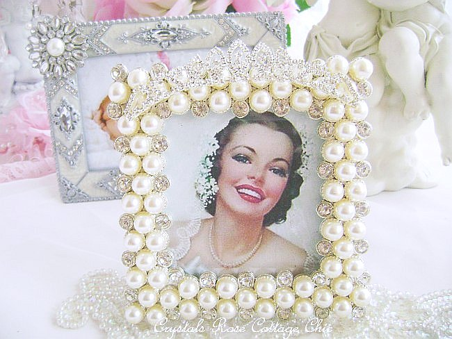 Bridal /Wedding Tiara Pearl Frame
