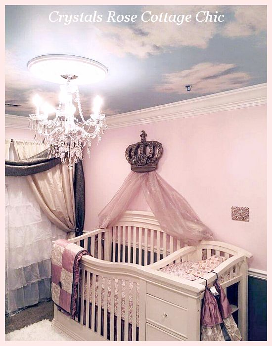 Big bed crown canopy over crib