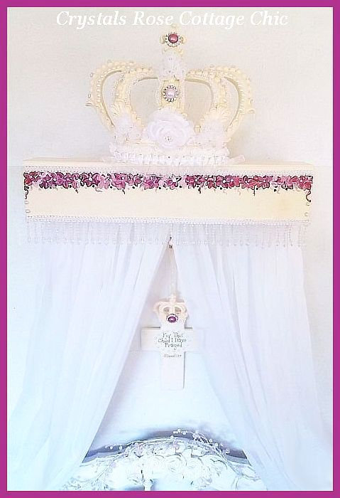 Hand Painted Bed Crown Teester