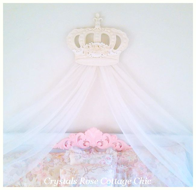 "Bella Rose Baroque Bed Crown 22.5"" x 19"" ...Color Options"