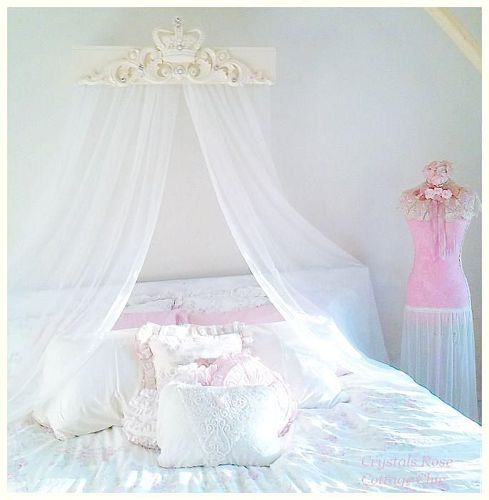 king size bed crown canopy teester shabby chic