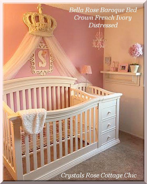Bella Rose Bed Crown Canopy Crib Nursery