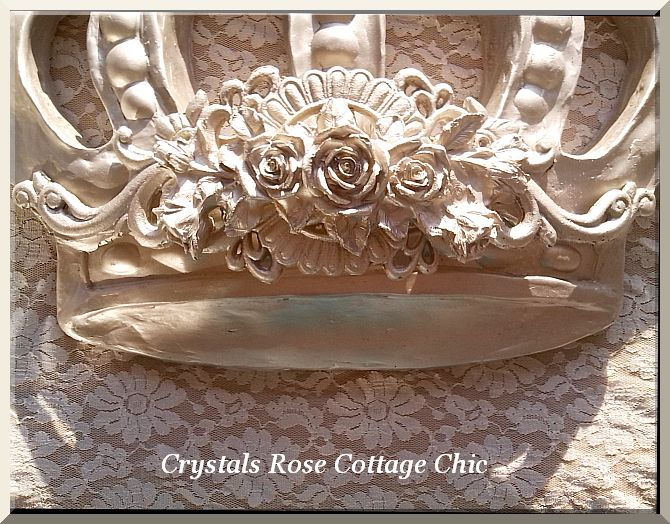 Champagne Bella Rose Baroque Bed Crown