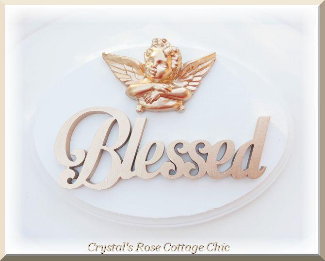 Blessed Oval Cherub Plaque.... Color Options