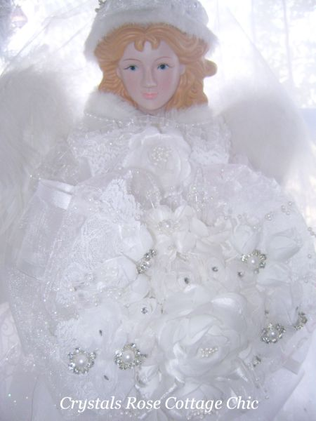 Winter White Bridal Angel 26 Inch