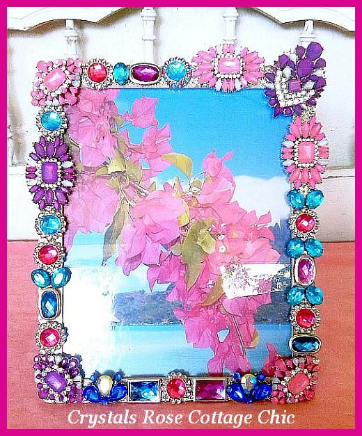 Custom Bright Rhinestone Bejeweled Frame