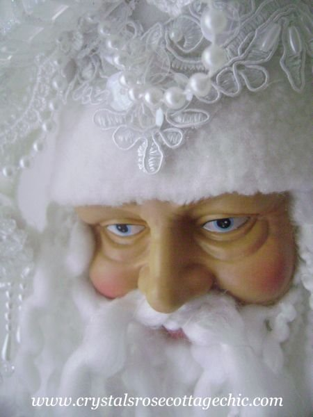 Candy Frost Santa Ornament