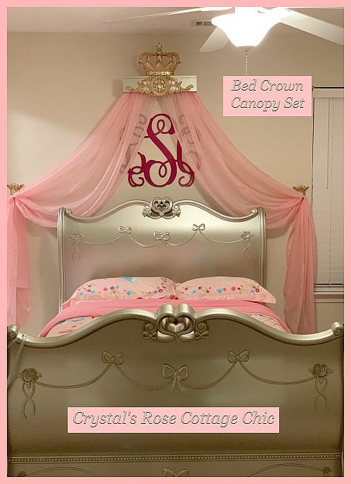 Bed Crown Canopy Complete Set...Color Options