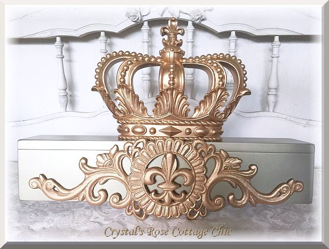 Vintage Gold/Champagne Bed Crown Teester ..Color Options..Free Shipping