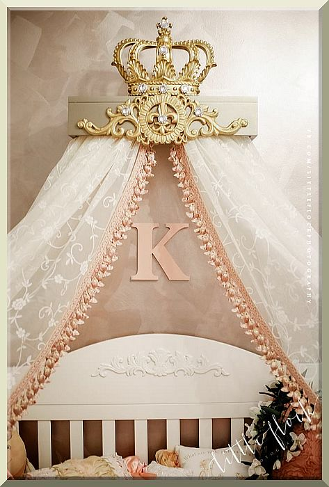 champagne gold bed crown canopy teester