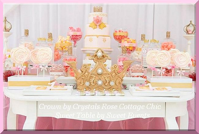 Gold Crown Sweet Dessert Table Event Party Decor