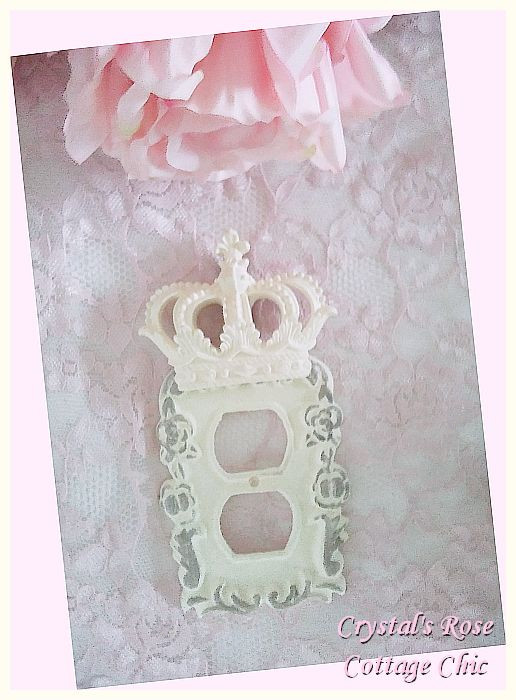 Victorian Rose Crown Distressed Outlet Cover... Color Choices