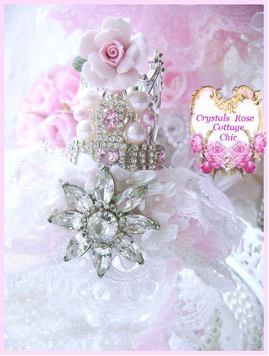 Vintage Glam Shabby Chic Princess Crown Perfume Bottle