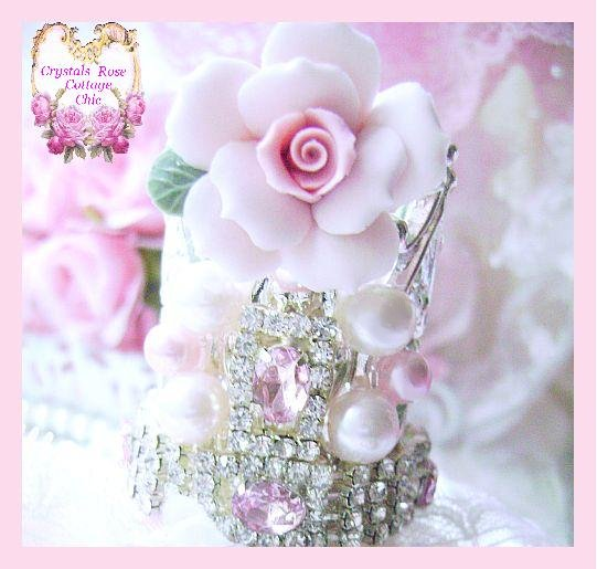 Vintage Glam Shabby Chic Princess Crown Perfume Bottle