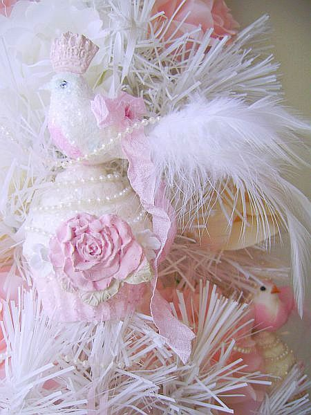 Queen Bird, Crowned in Pink on her Royal Cupcake, Ornament