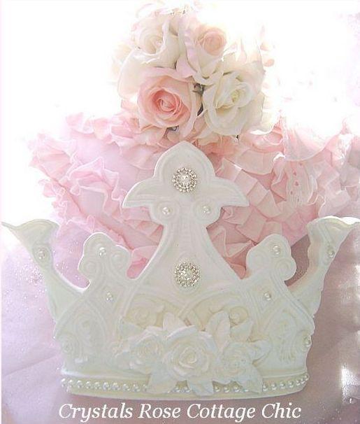 Custom Order White Rose Crown on Charming Teester