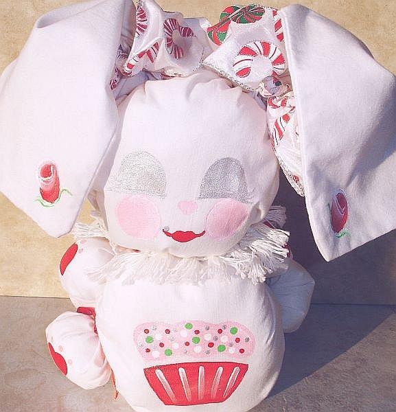 Cupcake and Candy Cane Dreams Bebe Christmas Bunny