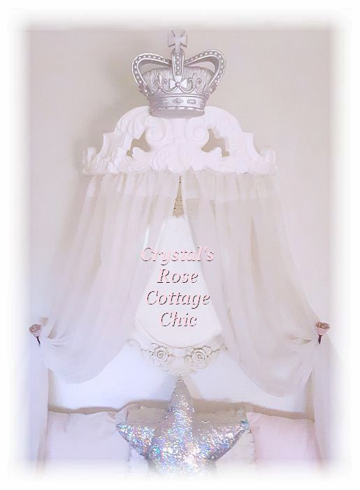 Curved Fleur de Lis Bed Crown Canopy/Cornice....Color Customization