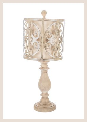 Distressed Flourish Cut Out Lamp