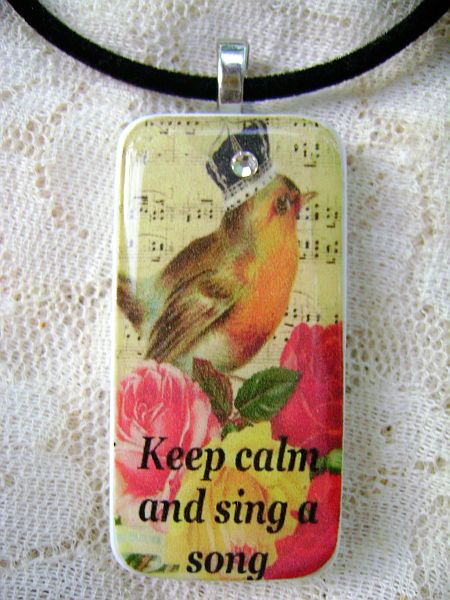 Romantic Rose,Sing a Song Pendant