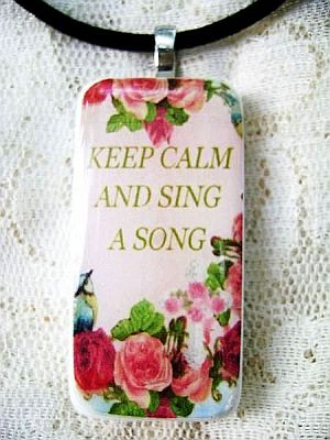 Chic Pink,Romantic Rose, Cross,Sing a Song Pendant