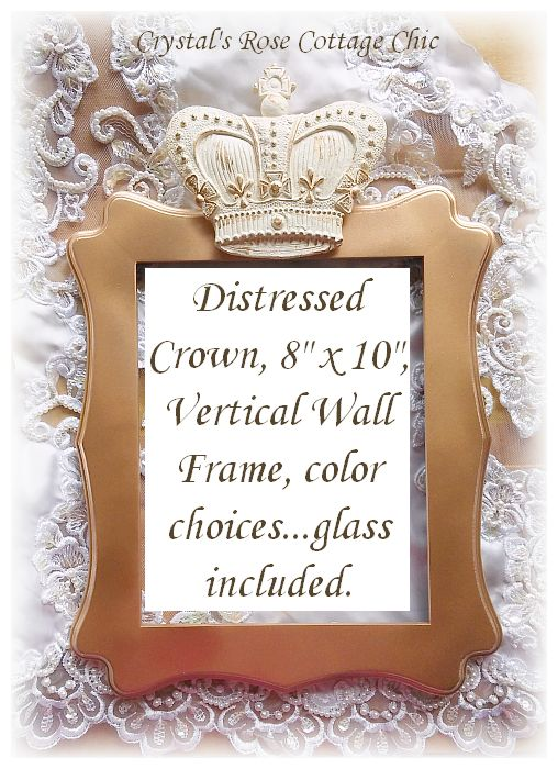Distressed Crown Vertical Frame...Color Choices
