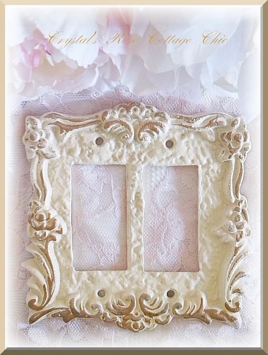 Victorian Rose Double Rocker Wall Plate....Color Options