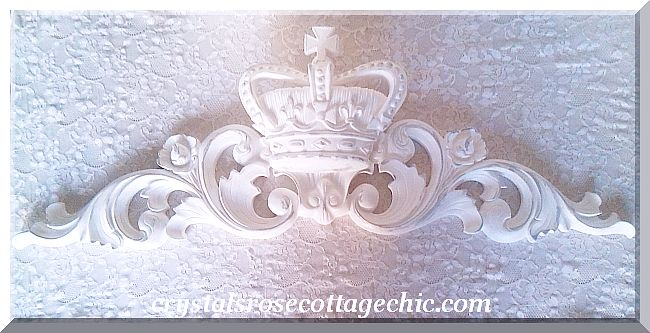 "Distressed White Crown Pediment 34""..Color / Paint Finish Choices"