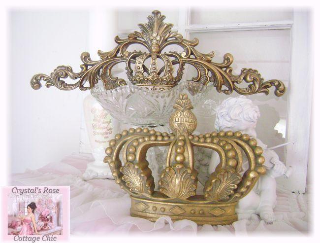 Distressed Royal Vintage Gold Crown...Color Choices