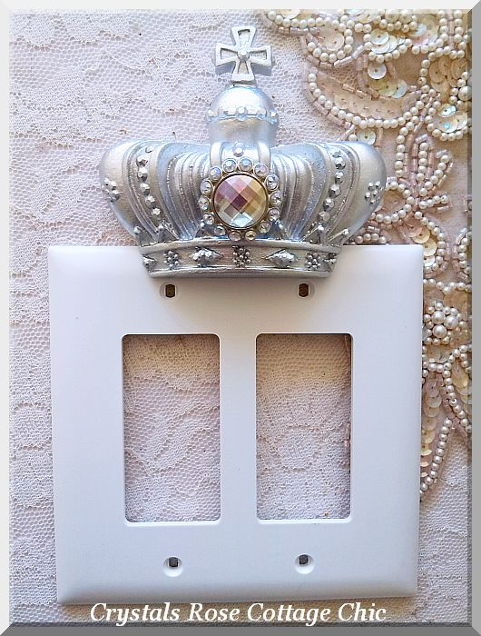 Double Rocker French Cross Crown Wall Plate...Color Choices