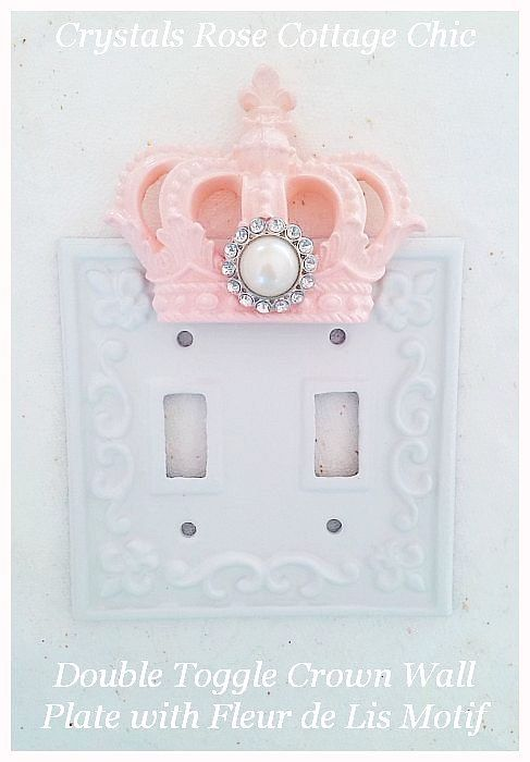 Double Toggle Crown French Wall Plate ...Color Choices