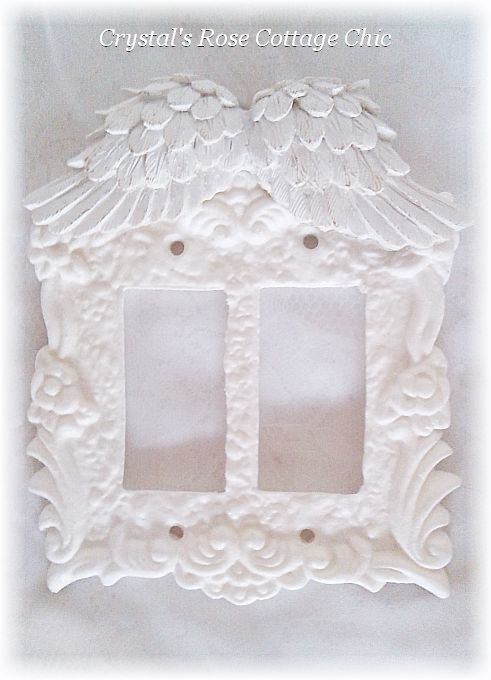 Wings Double Rocker Victorian Rose Switchplate...Color & Finish Options