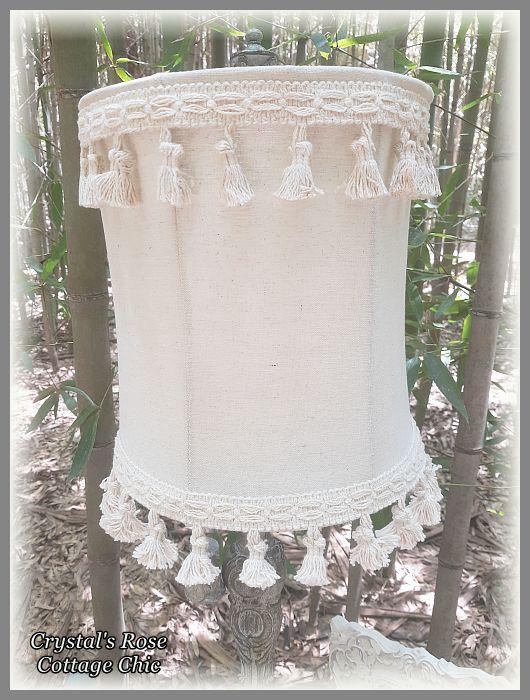 Double Tassel Fringe Flourish Distressed Lamp