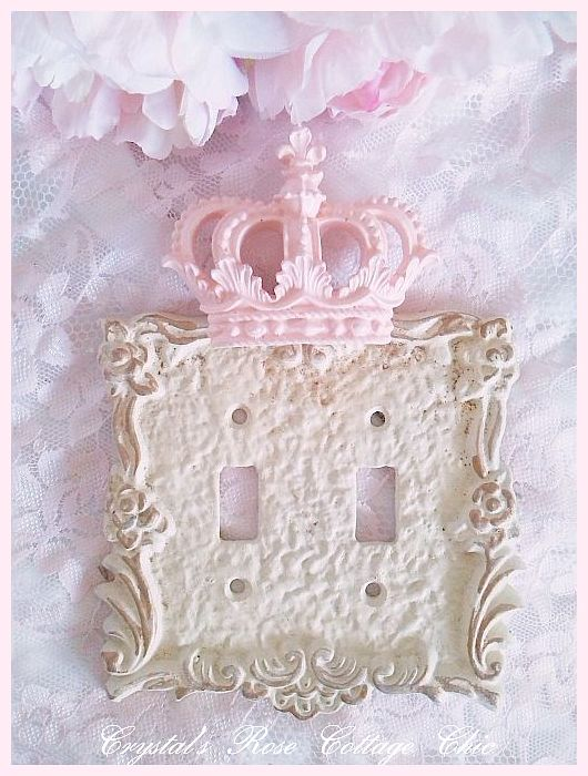 Double Toggle Victorian Rose Crown Wall Plate...Color Choices