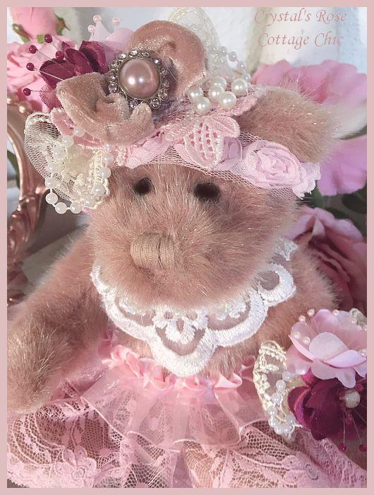 Dusty Rose Keepsake Victorian Bear