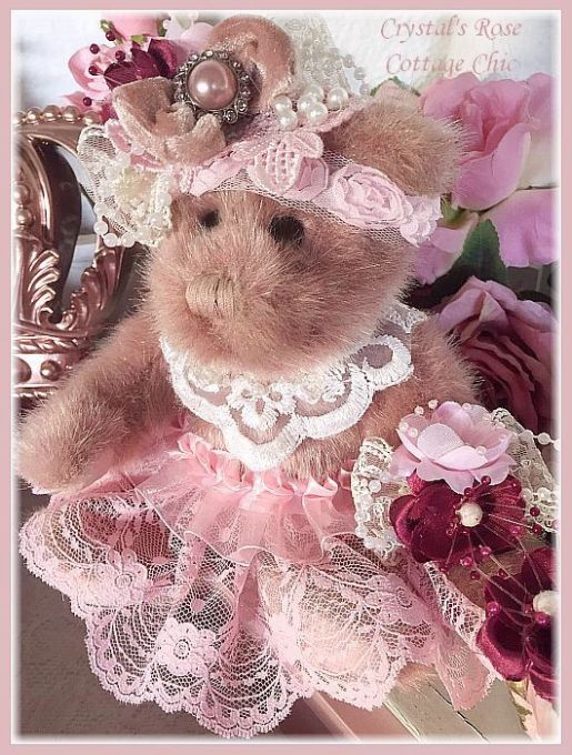 Dusty Rose Keepsake Victorian Bear