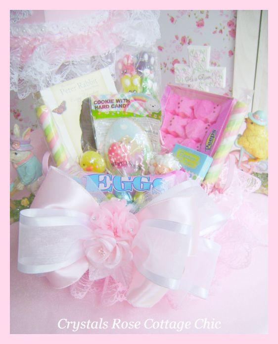 Pink Easter Gift Basket