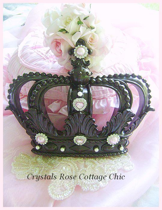 Fleur De Lis Wall / Bed Crown in Espresso