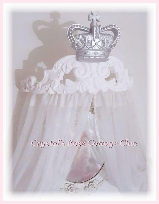 Curved Fleur de Lis Bed Crown Canopy/Cornice....Color Customization