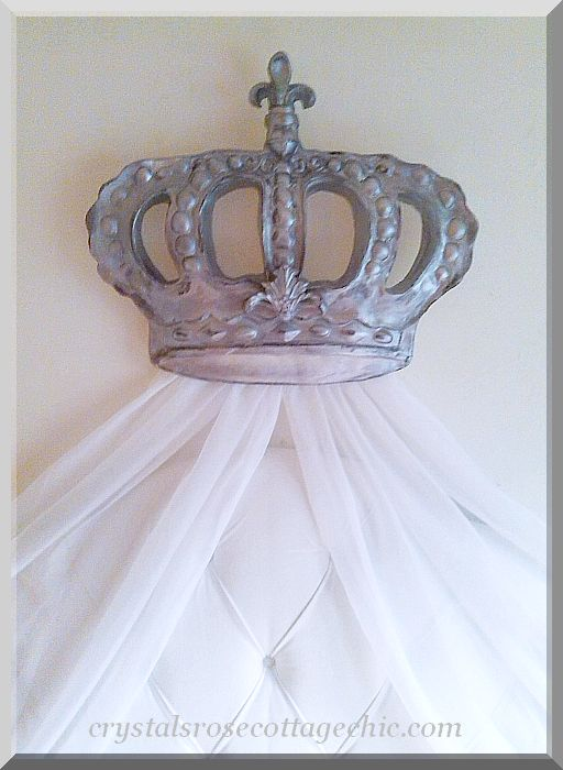 Fleur de Lis Baroque Bed Crown  Set...Color Choices