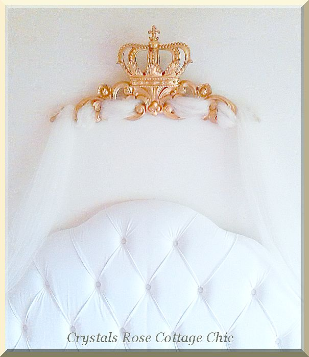 "Fleur de Lis Crown / Pediment 33""x 14""..Color Choices"