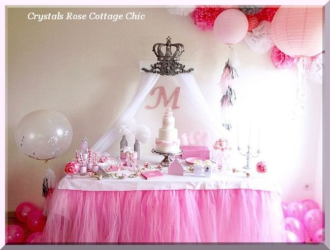 Princess Party Crown Teester Sweets Table Decor