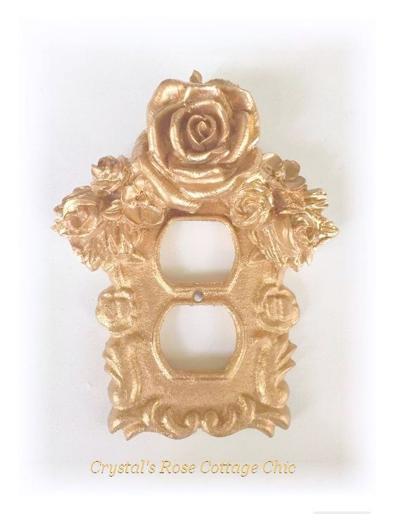 Floral Rose Swag Victorian Outlet Cover...Color Options