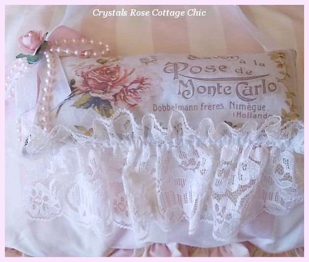 French Rose Lace Sachet