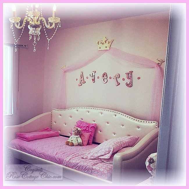 Complete Princess Bed Crown Canopy Set...Color choices