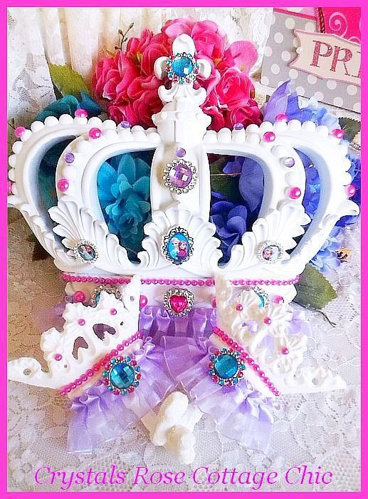 Frozen Princess Bed Crown Hot Pink, Purple,Turquoise