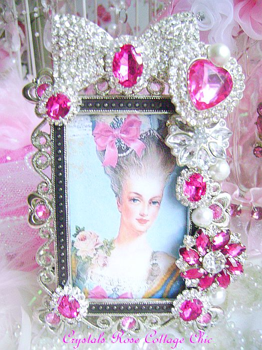 fuchsia rhinestone luxury frame