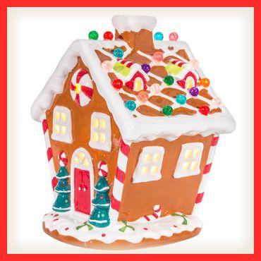 Light Up Ceramic Gingerbread House