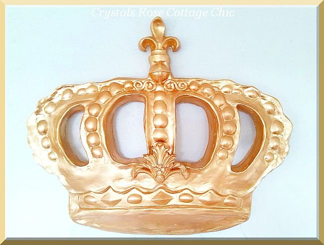 Fleur de Lis Baroque Bed Crown ...Color Choices